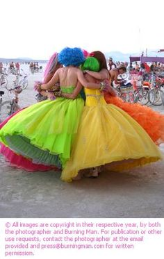 Belles de la Burning Man. These should be  natural hair colors.