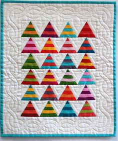 This is a Bright Silk Miniature Tee Pee Quilt -- would be a cute kid quilt in solids or dots!