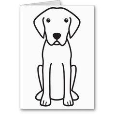 Plott Dog Cartoon Card