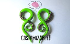 Hey, I found this really awesome Etsy listing at http://www.etsy.com/listing/106720982/zombie-gauged-earrings-4g-2g-0g-00g-716