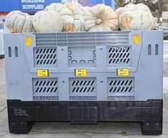 Harga container plastik besar - kotak pallet Australia Folding Vented HDPE Australian