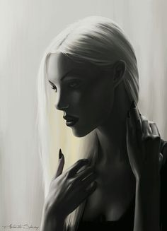 There's a lot of pictures of Manon Blackbeak all over Pinterest, but OMG! This one totally captures her! White hair, beautiful face, body and that disinterested look that could turn any second to a murderous one! Love this ❤