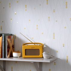 Equinoxe Yellow Wallpaper by Graham and Brown