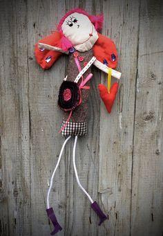 Angel doll Primitive Textile doll Funny Doll от SunnyFunnyDolls