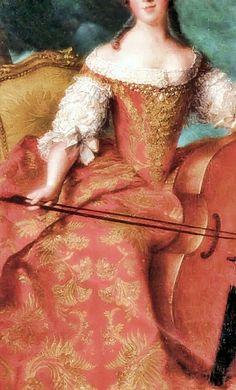 Madame Henriette of France,1754 (Detail) by Jean Marc Nattier - (1685 - 1766)