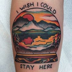 This style is nice. Especially with this tattoo I'd want it like this too except a picture of home.