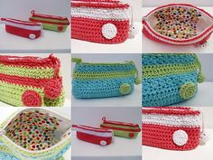 my handmade crochet pencil case