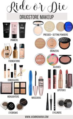 Ride or Die: Drogerie-Make-up - Make-up . - Ride or Die: Drogerie-Make-up – Make-up – – Haut – - Best Drugstore Makeup, Drugstore Makeup Dupes, Best Makeup Products, Beauty Products, Contouring Makeup, Oily Skin Makeup, Elf Dupes, Eyeshadow Dupes, Makeup Products For Beginners