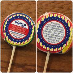LDS baptism rainbow sucker lollipop covenants. --by Shaylene Jennings