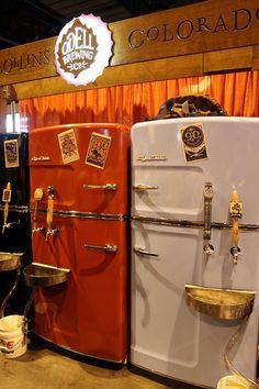 Vintage refrigerators as kegarators!
