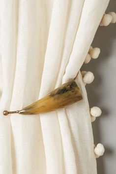 Anthropologie Horned Tieback #anthrofave the Pom Pom curtains!