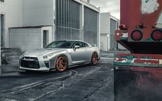 Download wallpapers Nissan GT-R, 4k, sportscars, 2017 cars, factory, GTR, Nissan