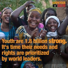 Youth can't be left out when world leaders plan the future. Put yourself into the picture & #showyourselfie pic.twitter.com/gM1SL9scIG