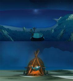 Animation Backgrounds by Sabrina Miramon, via Behance