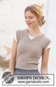Free knitting patterns and crochet patterns by DROPS Design Knitting Stitches, Knitting Patterns Free, Knit Patterns, Free Knitting, Free Pattern, Finger Knitting, Knitting Machine, Drops Design, Minimalist Pattern