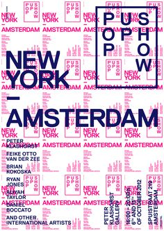 anothergraphic:  NY — AMS / Pop Up Show Poster