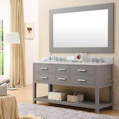 """60 Inch Bathroom Vanity Double Sink dcor design albia 60"""" double sink bathroom vanity set with mirror"""