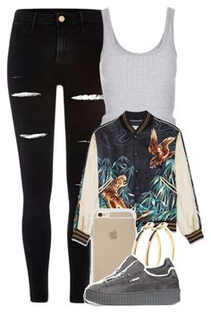 """Untitled #4432"" by dianna-argons-lover ❤ liked on Polyvore featuring River Island, Topshop, Pieces and Puma"