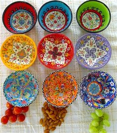 These Turkish bowls add colour to any event or dinner table