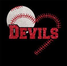 Custom Baseball Devils Glitter Iron On Transfer 0266bee60267