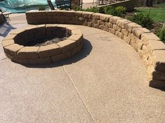 Stamped Concrete Alternative Fire Pit Patio Resurfacing Peoria IL