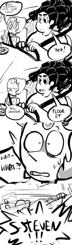 Pearl teaching Steven how to drive by artfucker64