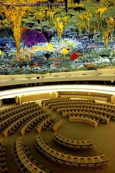 Ceiling Sculpture Designed By Miquel Barceló, United Nations, Palais Des Nations, Geneva, Switzerland