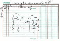 """Apunte. Projecte d'installacio: ocupant el meu espai 003   Apunte  """"Projecte d'installacio: ocupant el meu espai 003""""  Proyecto de instalación: Ocupando mí espacio 003  Bolígrafo sobre papel  153 x 105 cm  2004  Bilbao  apunte: instalación libro 2004-01 / 2004-06"""