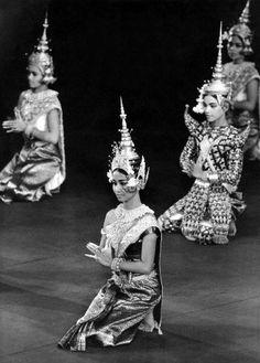 A young Princess Norodom Buppha Devi as a ballet dancer with the Cambodian Royal Ballet.
