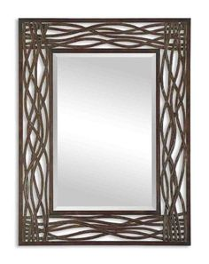 The metal frame of this piece is finished with distressed mocha brown and features a forged metal look. Description from uniquevanities.com. I searched for this on bing.com/images