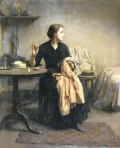 detail of Widowed and Fatherless by Thomas Kennington
