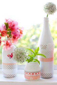 DIY mit Lack – Glasflasche zur Vase umfunktioniert   cozy & cuddly