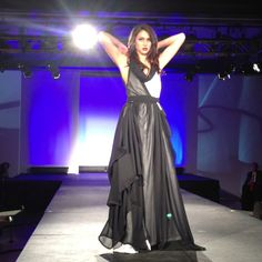 The dress that went in the fashion show & my adorable model