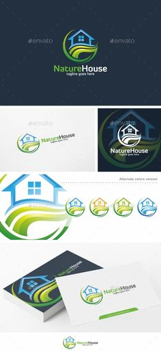 Nature House / Home  Logo Design Template Vector #logotype Download it here:  http://graphicriver.net/item/nature-house-home-logo-template/12670456?s_rank=1157?ref=nexion