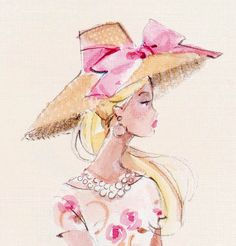 barbie doll drawing in water color Art And Illustration, Silhouette Mode, Barbie Drawing, Doll Drawing, Barbie World, Fashion Sketches, Fashion Illustrations, Fashion Drawings, Fashion Art