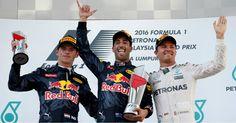 Max Verstappen, Daniel Ricciardo and Nico Rosberg #F1 #MalaysiaGP 2016
