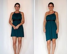 Make this super simple 15 Minute Convertible Dress using two rectangular pieces of fabric and some ribbon. You'll want to make one in every color!