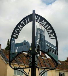 North Elmham ornate sign