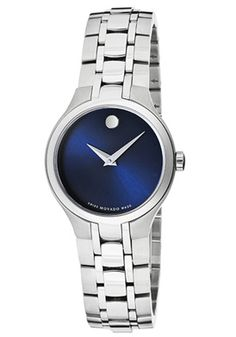 Movado Blue-Faced Stainless Steel Women's Watch