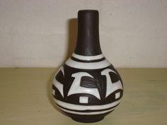 """MICHAEL ANDERSEN & SØN """"Negros"""" vase from the 50s - MARIANNE STARCK. #klitgaarden #michaelandersen #mariannestarck #negros #danishdesign #danishceramics #danishpottery #danskkeramik #vase SOLGT/SOLD on www.klitgaarden.net.."""