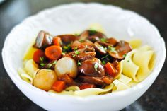 mushroom bourguignon by The Red Spoon, via Flickr