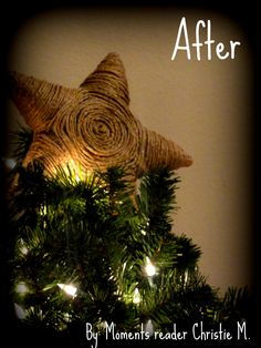 DIY Twine Star Christmas Tree Topper Would be a great before Christmas gift to a mom