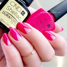 CND Shellac in Pink Leggings (from the Spring 2017 New Wave collection) + Shellac Duraforce Top Coat