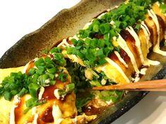 簡単♡キャベツたっぷ〜り♡とん平焼きの画像 Home Recipes, Asian Recipes, Healthy Recipes, Ethnic Recipes, Tasty, Yummy Food, Home Food, Japanese Food, I Foods
