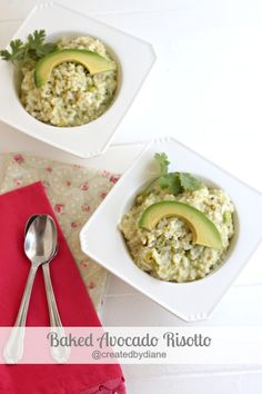 Easy Baked Avocado Risotto Recipe | Created by Diane