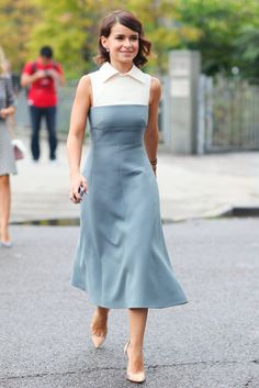 Hot Shots: The Best Street Style at NYFW (Updated!): Kate Lanphear perfected all-black with her signature cool angle.: Miroslava Duma showed off a ladylike look and a pair of classic pumps.