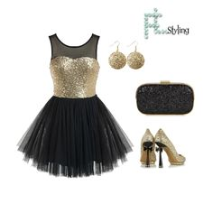 Glitter Party Dress Outfit