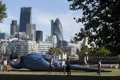 Giant Dead Parrot Sculpture Installed in London to Mark the 'Monty Python Live (mostly)' Farewell Show
