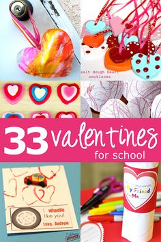 33 super duper cute Valentines for kids to make and take to school via Hands On As We Grow