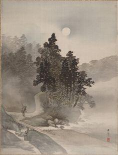 leprincelointain:  Kawai Gyokudo (1873-1957), Voyageant au Clair de Lune.